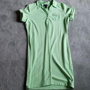 EUC Rafaella Sz L light neon green dress